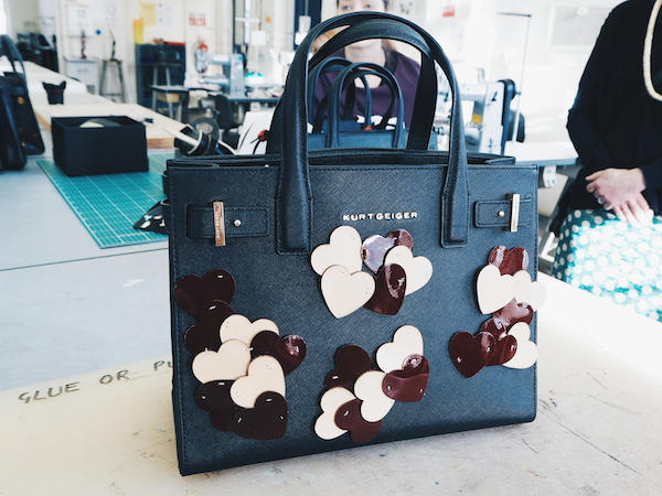 Kurt Geiger and Cordwainers at London College of fashion Saffiano bag design by Adelaide Le Gras