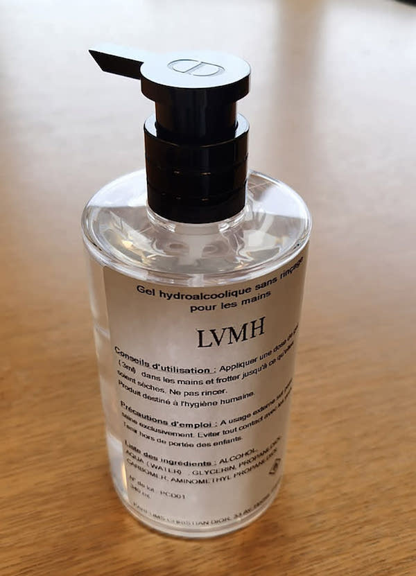 LVMH hand sanitiser by Financial Times