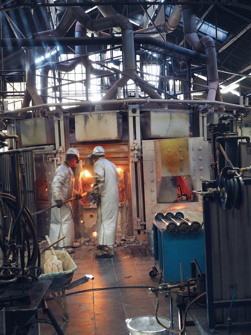 Lalique factory hot working section