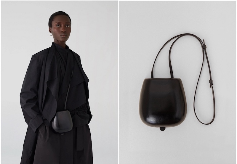 Lemaire vegetable tanned molded Taco bag