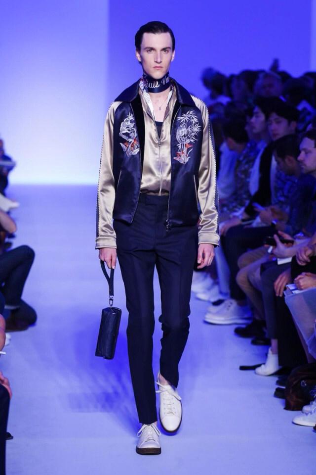 Louis Vuitton Spring Summer 2016 satin bomber jacket