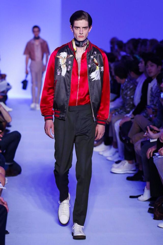 Louis Vuitton Spring Summer 2016 satin jacket