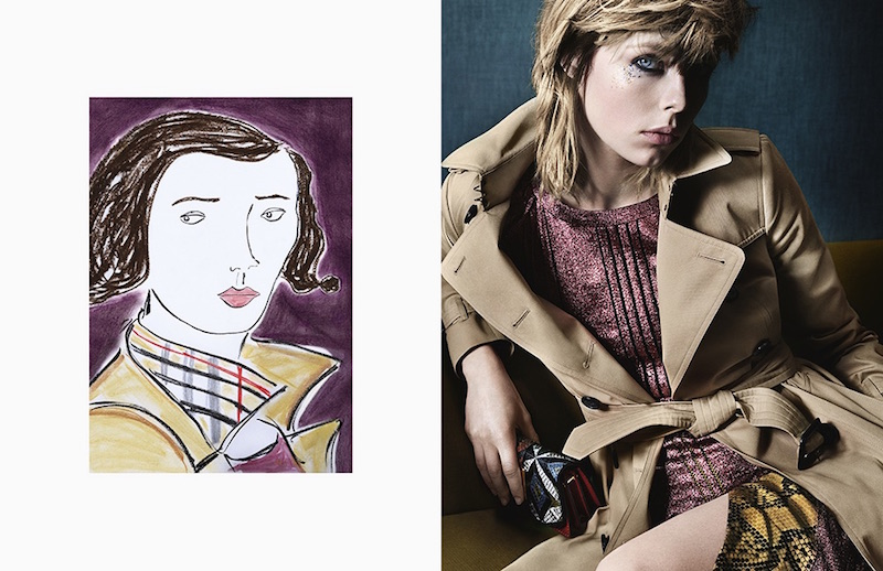 Burberry illustrated campaign
