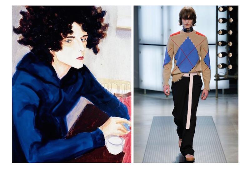 MSGM Aw16 menswear inspired by Elizabeth Peyton