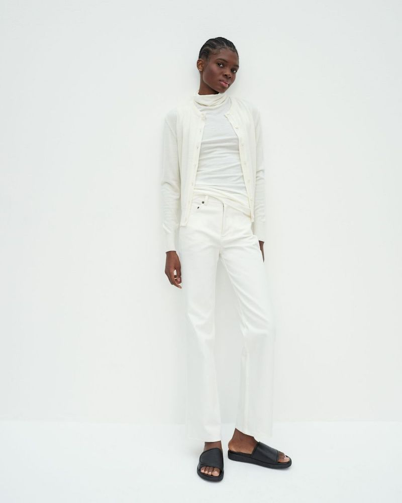 Maggie Marilyn sustainable white jeans