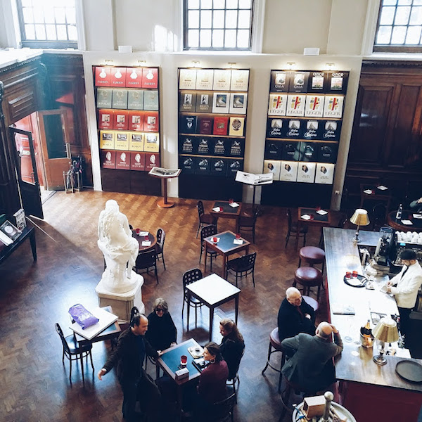View from the mezzanine of Maison Assouline bookstore, 196 Piccadilly