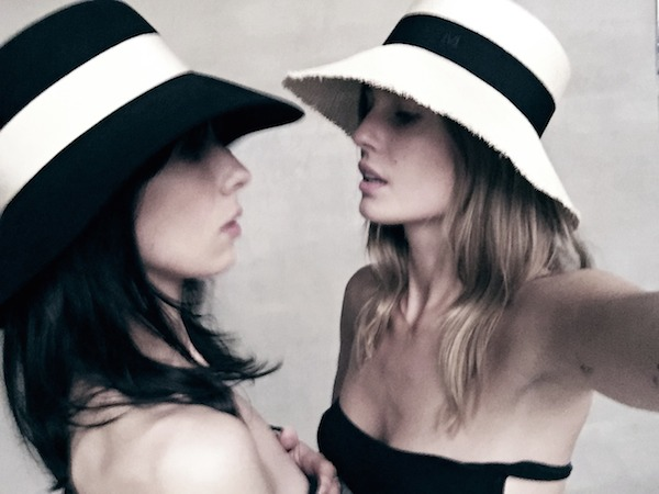 Kendall hat by Karl Lagerfeld for Maison Michel