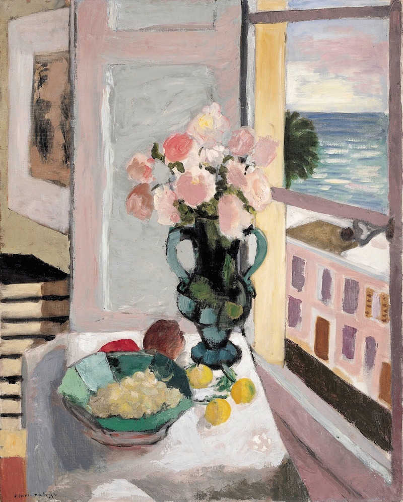 Matisse In The Studio - Royal Academy - London - Safrano Roses at the Window, 1925