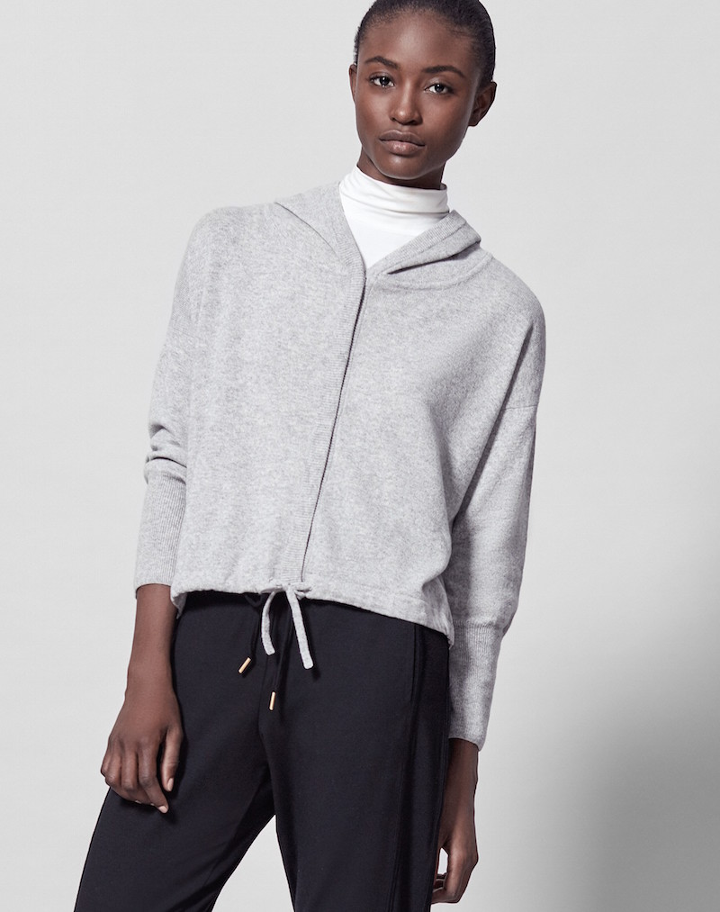Me+Em cashmere cropped hoody