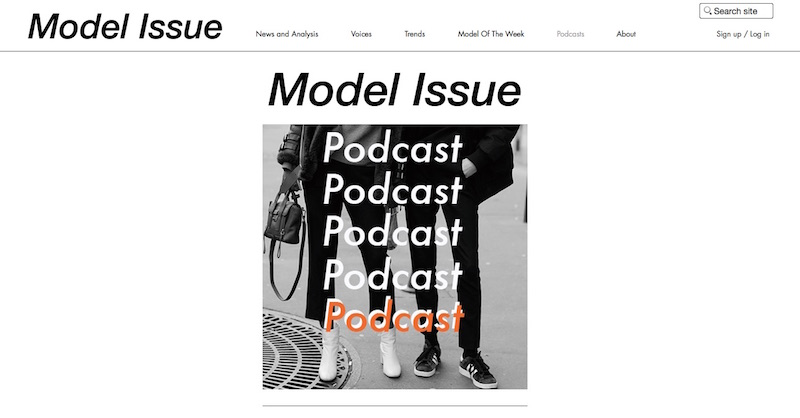 Model Issue website about the modelling industry