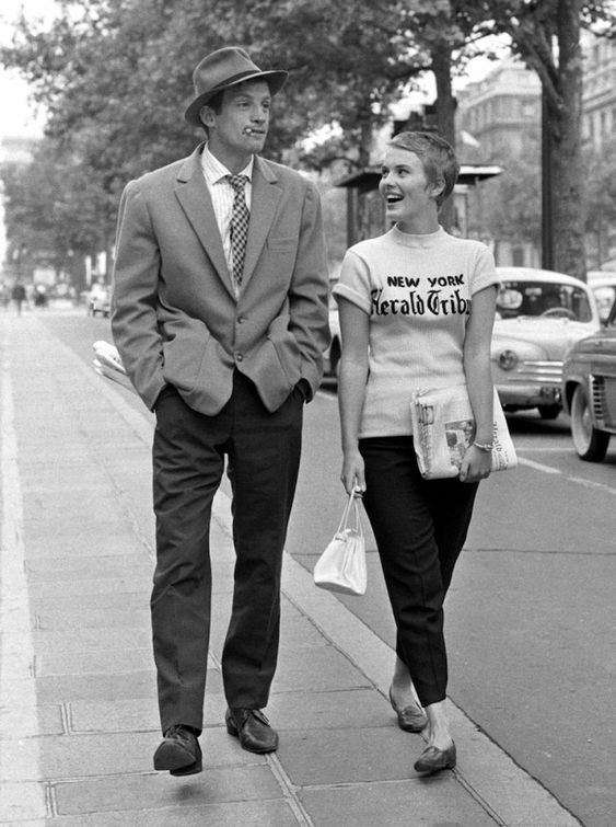 New York Herald Tribune t-shirt Jean Seberg