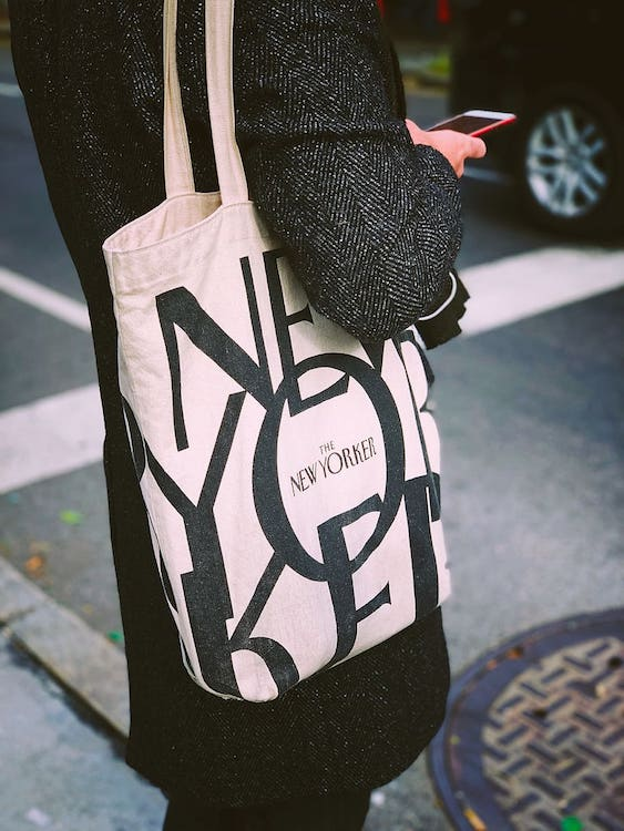 New Yorker tote bag by NSS magazine
