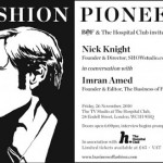 FASHION PIONEERS talk with Nick Knight OBE – live streamed here!