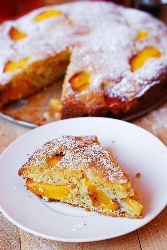 Peach and yogurt cake gluten free