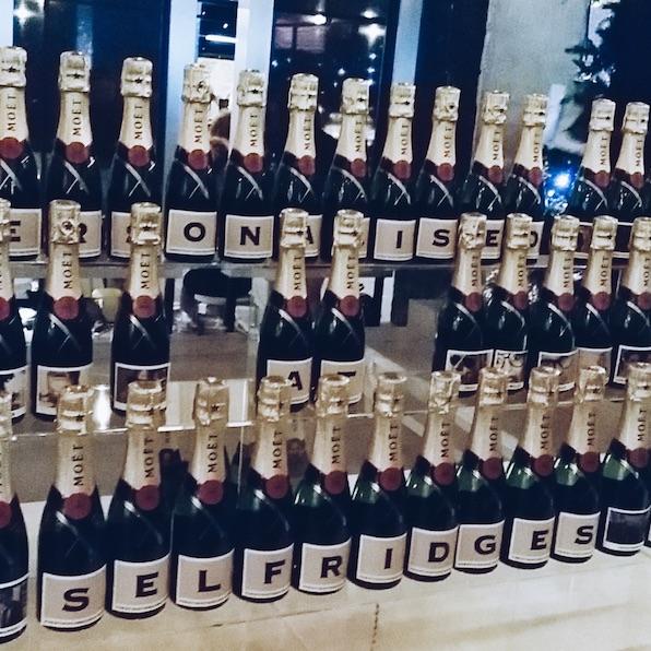 Personalised Mini moet champagne Selfridges