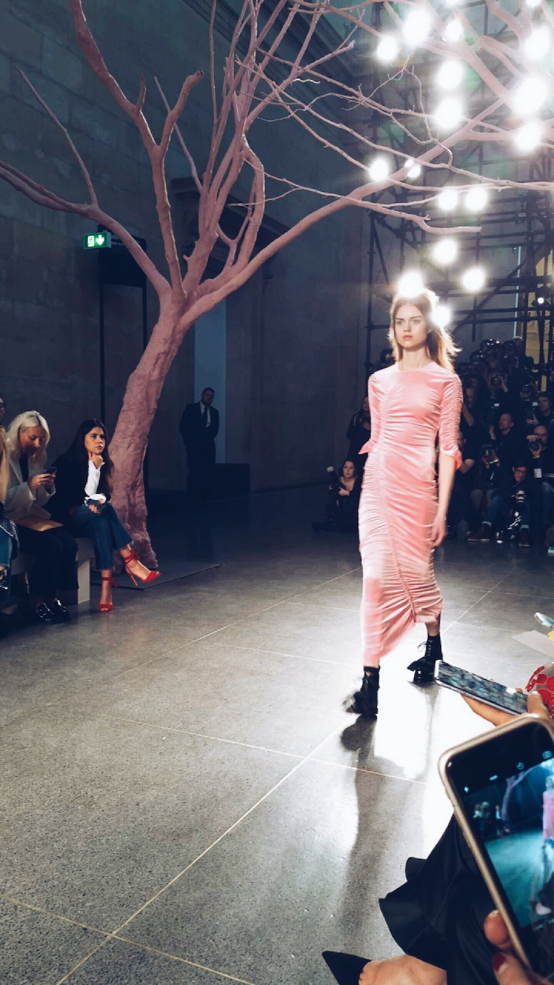 Preen pink ruched dress