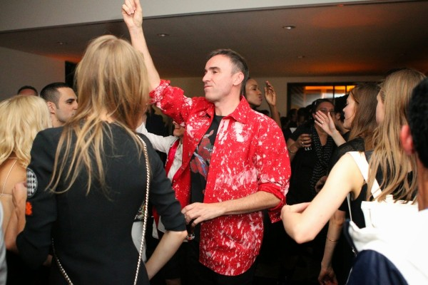 Raf Simons dancing at the Dior Cruise 2016 party