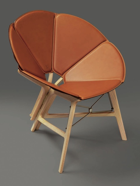 Raw Edges Concertina Chair for Louis Vuitton Objets Nomades