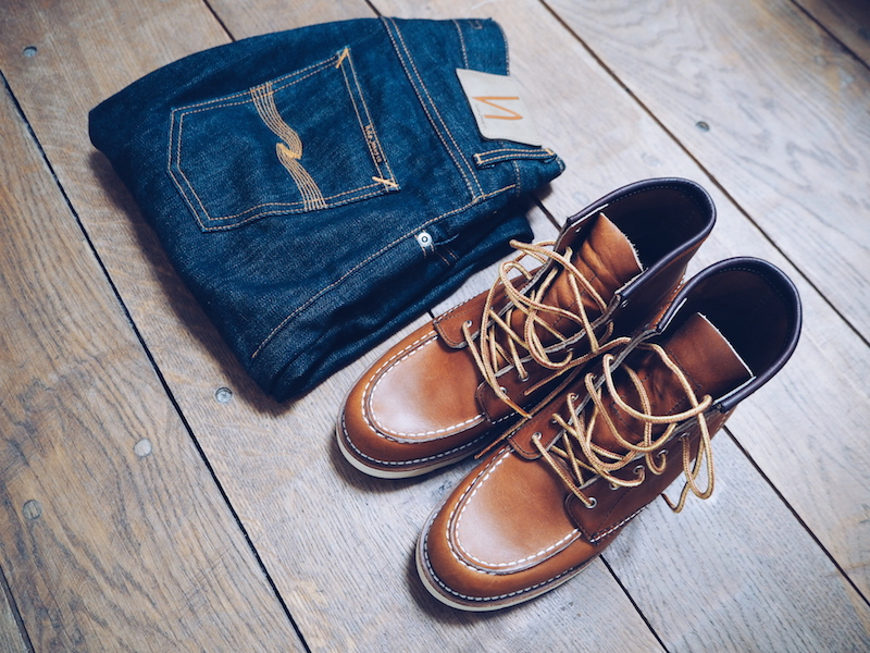 Red Wing boots for women and Nudie Jeans