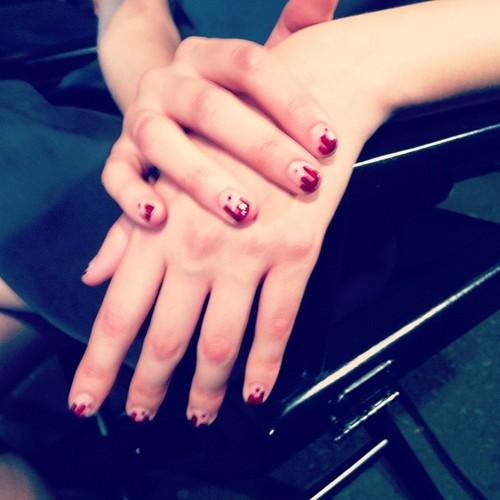 Sally-Hansen-Prabal-Garung-blood-drip-ss13-nails Style.com