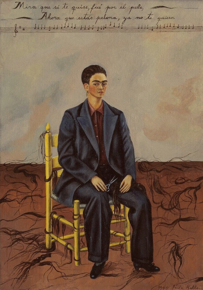 Self Portrait with Cropped Hair 1940 - Frida Kahlo