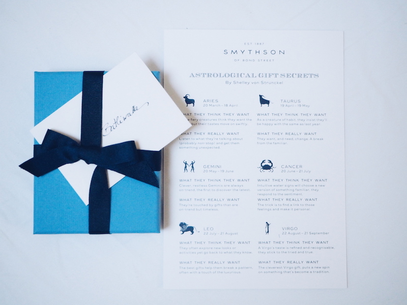 Smythson Written in the stars astrology signs