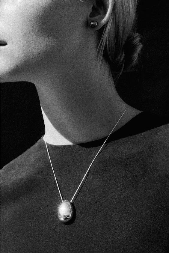 Sophie Buhai silver egg pendant