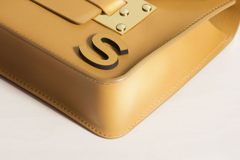Sophie Hulme - Leather Letters Personalisation - The Mini Milner in Dark Butter