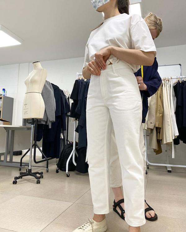 Studio Nicholson white jeans