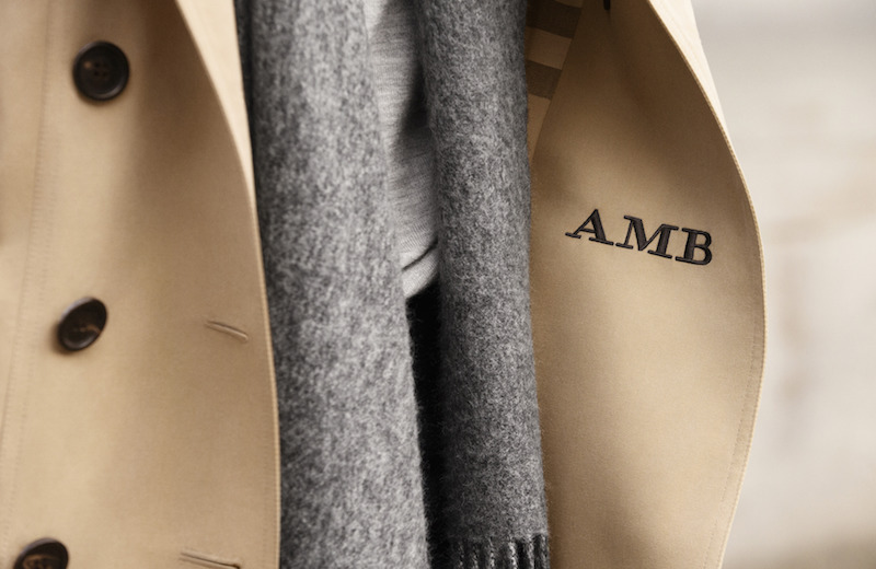 Burberry monogrammed trench