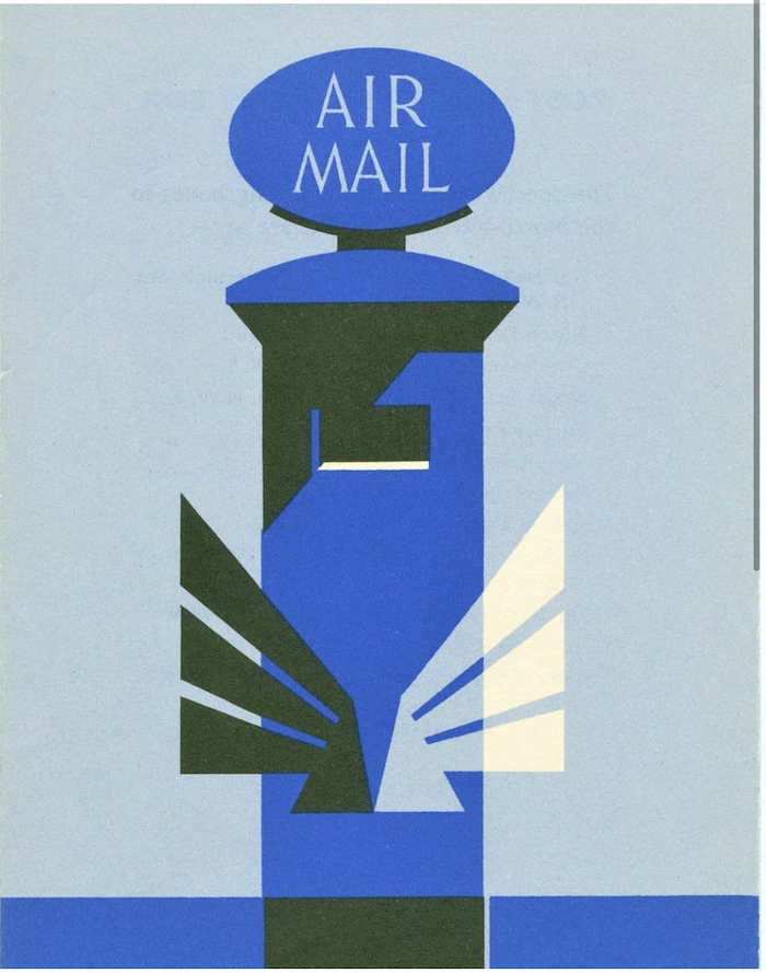 Theyre Lee-Elliott air mail poster