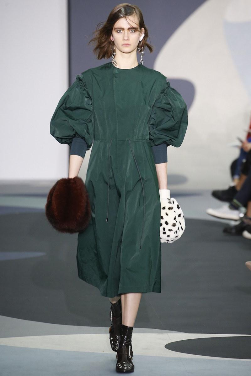 Toga AW16 green dress