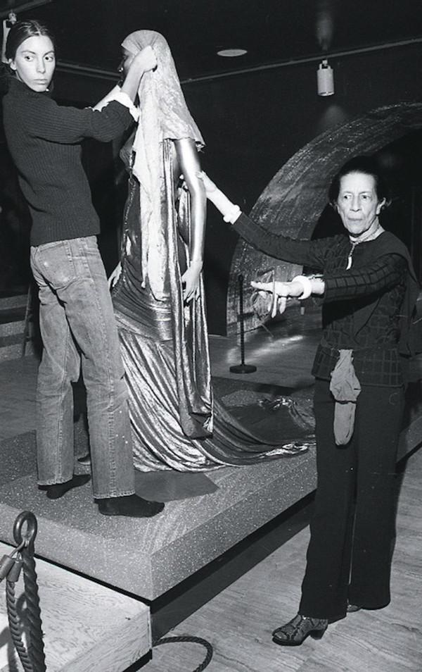 Tonne Goodman and Diana Vreeland 1975