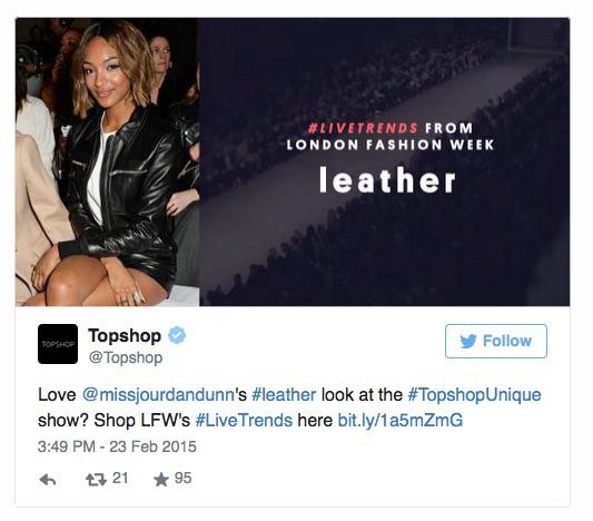 Topshop twitter Live Trends