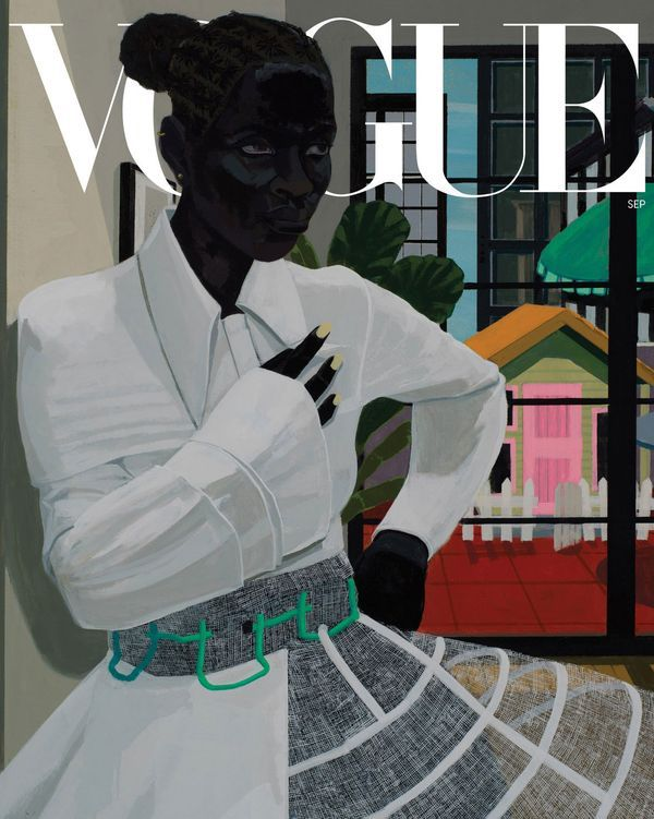 US Vogue September issue cover by Kerry James Marshall