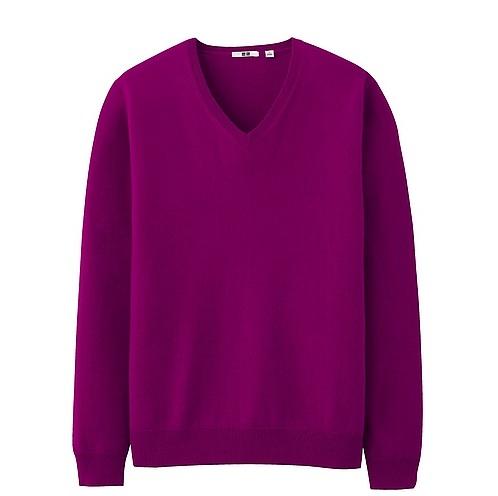 Uniqlo-cashmere-mens-purple 3