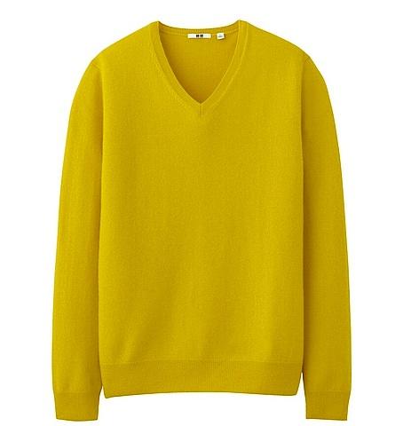 Uniqlo-cashmere-mens yellow