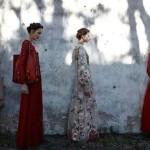 Deborah Turbeville shoots Valentino SS12 campaign