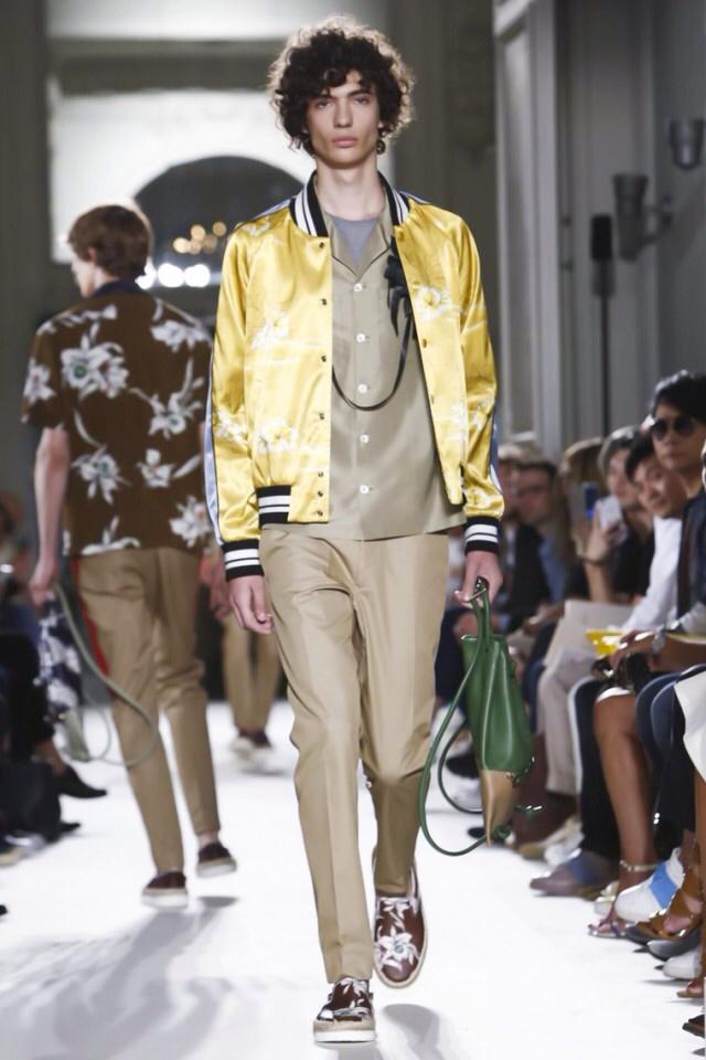 Valentino Spring Summer 2016  satin bomber jacket