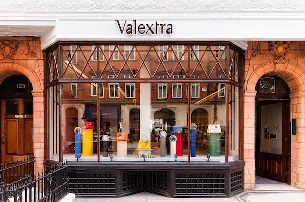 Valextra luxury leather handbags arrive in Mount Street