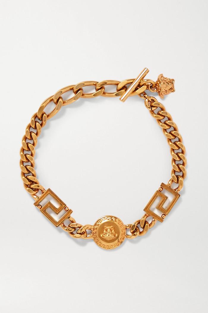 Versace chunky chain bracelet