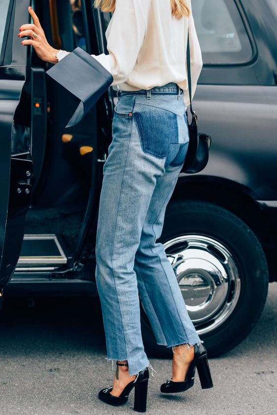 Vetements upcycled Levi's Jeans by Tommy Ton