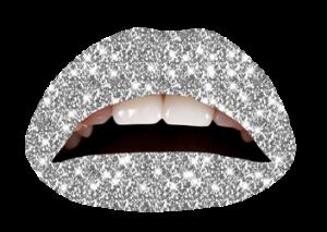 Violent Lips Silver Glitteratti