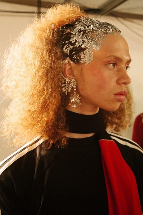 Wales Bonner crystal ear cuff