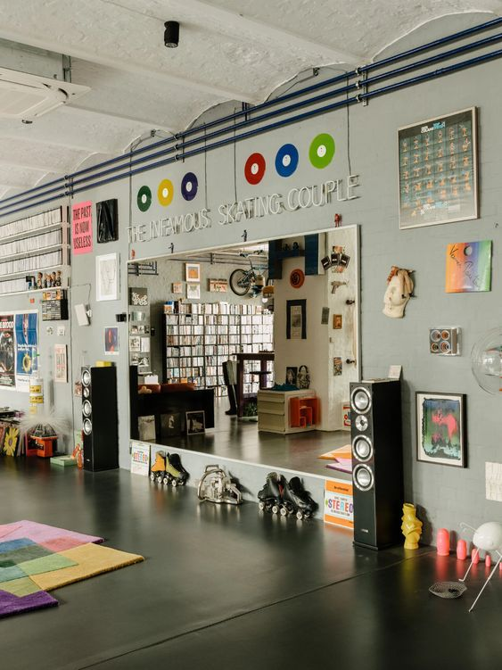 a Loft That Is Part Gallery and Part Roller Rink