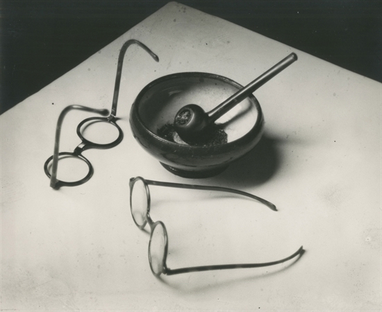 Mondrian's glasses and pipe by Andre Kertesz at Photo london