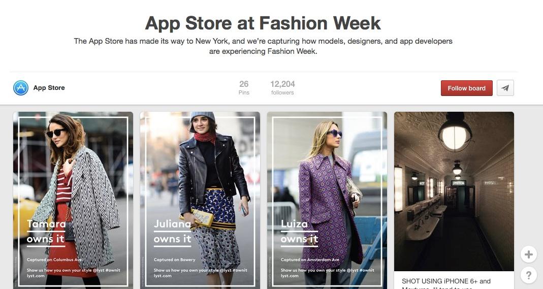 app-store-pinterest-fashion-week-lyst