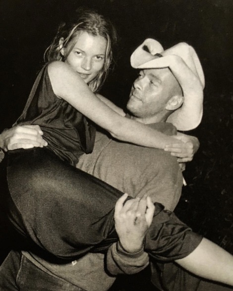 dick page and Kate Moss by Bruce Weber