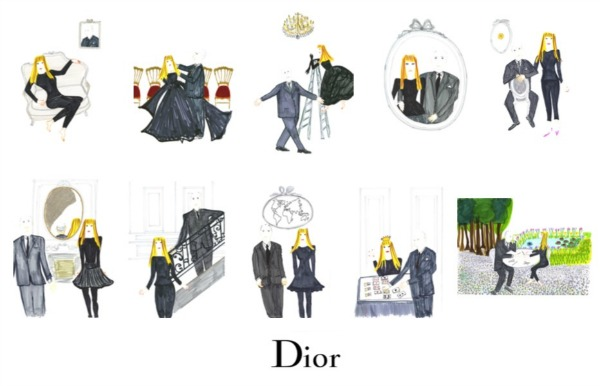 dior jewellery Rose Des Vents sketches