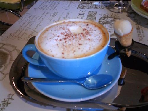 fortnum & Mason coffee and mini ice cream cone